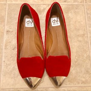 Red suede flats DV by Dolce Vita